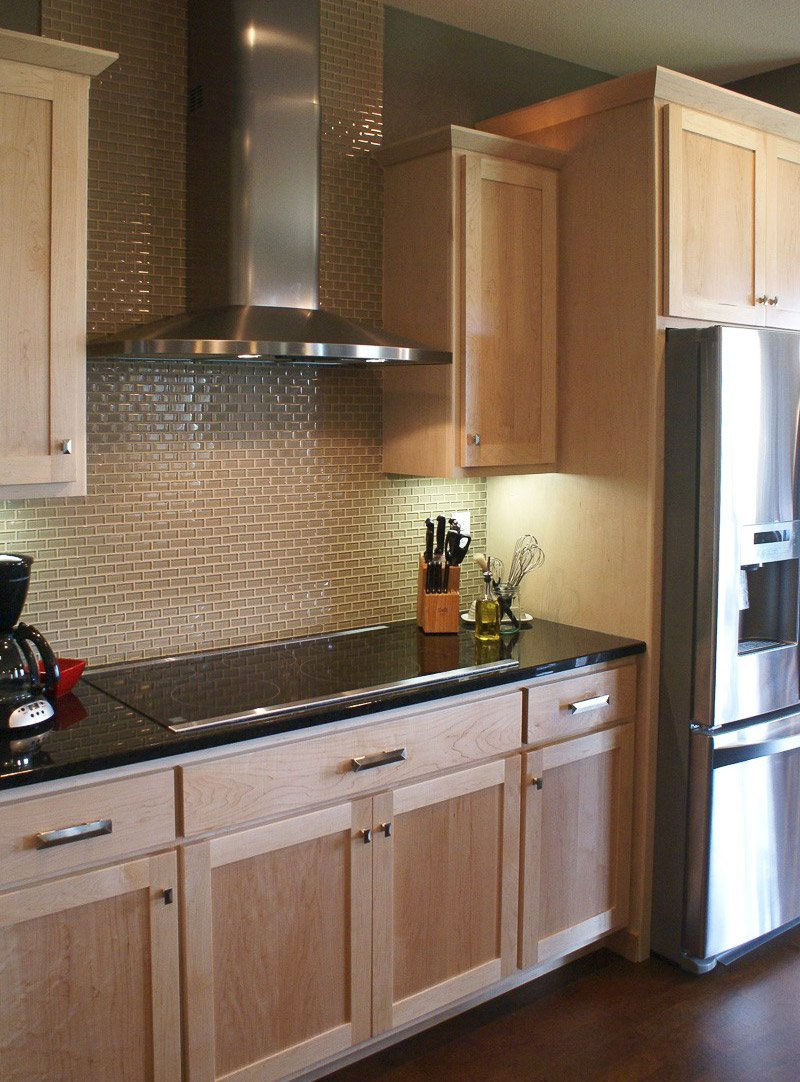 Beautiful Light Wood Cabinets Kitchen Rch Custom Homes Custom Homes Contractor