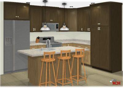 3D Kitchen Render at 1877 Longview Drive, Detroit Lakes, MN House For Sale