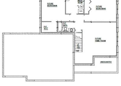 Juniper House Lower Level Blueprint