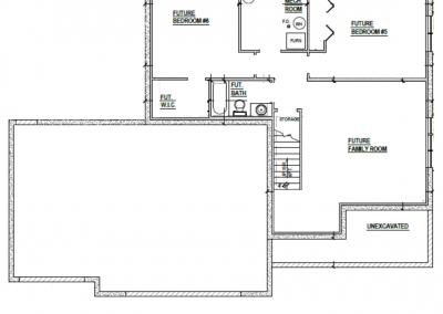 Juniper House Lower Level Blueprint