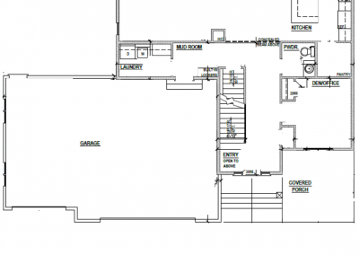 Juniper House Main Level Blueprint