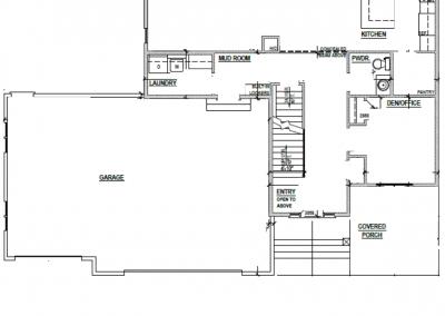 Juniper House Main Level Blueprint