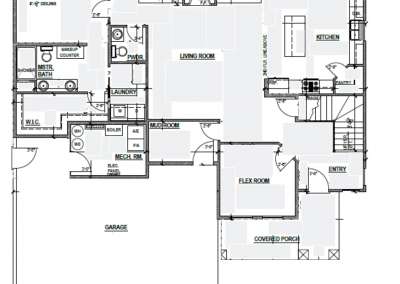 Aspen House Main Level Blueprint