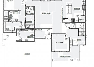 Aspen House Main Level Blueprint