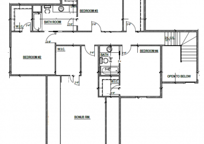 Aspen House Upper Level Blueprint