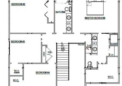 Juniper House Upper Level Blueprint